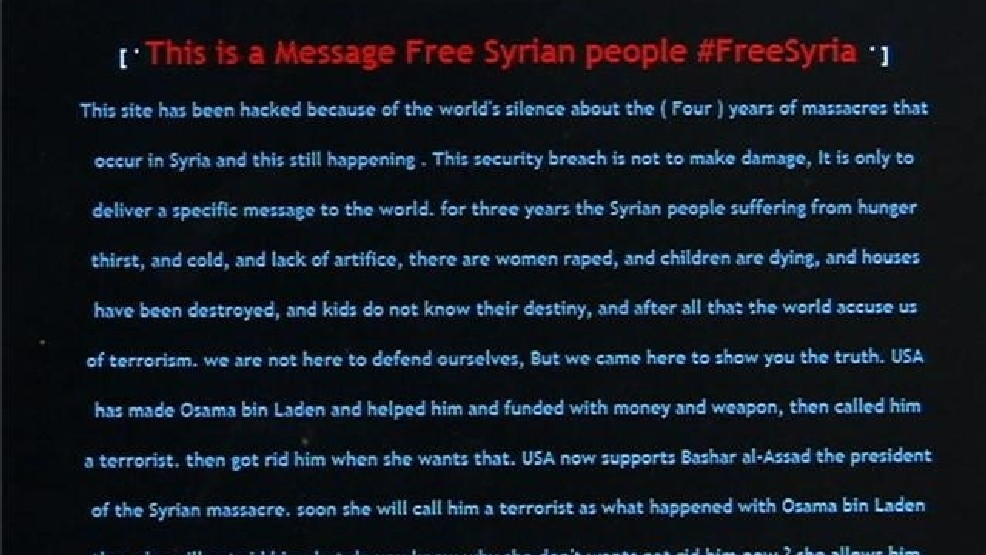 City of Perrysburg's website hacked with 'Free Syria